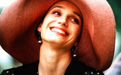 kristin scott thomas, four weddings and a funeral, happy, beaming, smiling, must you?