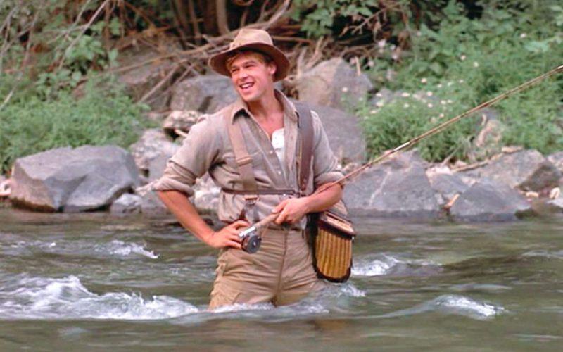 brad pitt, river runs through it, fishing, holiday crushes, hot men, sexy