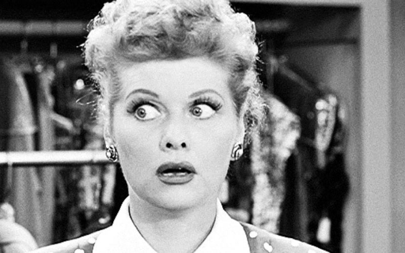 lucille ball, shocked, wide-eyed, little shocks, surprised, i love lucy, everyday shocks