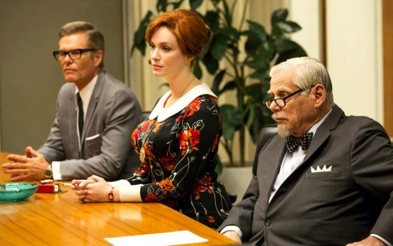 mad men, joan holloway, boardroom meeting, meeting, conversations with yourself