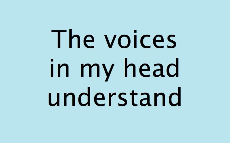 the voices in my head understand, voiceovers, voiceover, voice in head, imaginary voices