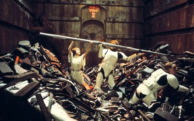 trash compactor, star wars, trash, rubbish, bins, princess leia, things we care about