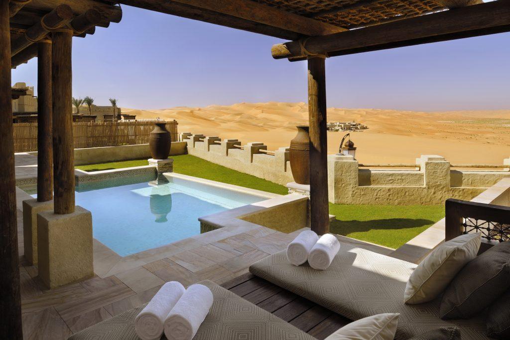 abu dhabi, qasr al sarab, desert, resort, corinthian travel, travel, winter sun, holiday, vacation