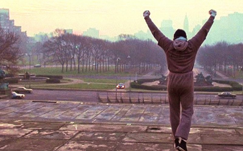 rocky, boxer, climb up, champion, hooray, possibility, hop