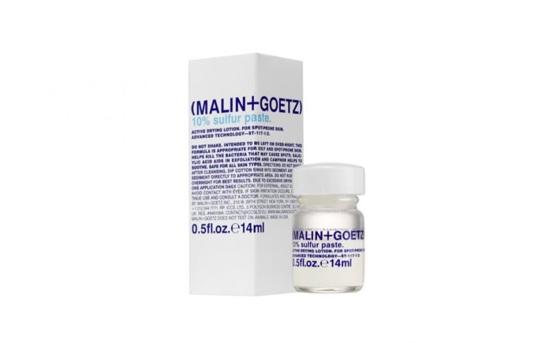 malin + goetz, spot cream, acne, spot, 10% sulfur paste, beauty school dropout, midult beauty