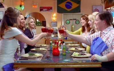 bridesmaids, dinner party, girls, psychology of ordering, menu politics