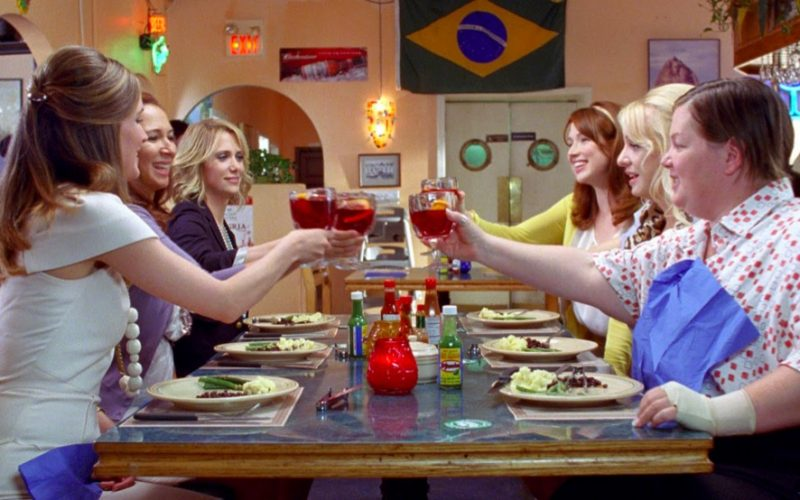 bridesmaids, dinner party, girls, psychology of ordering, menu politics
