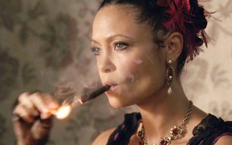 thandie newton, westworld, cigar, smoking, restless, little restless, small restless