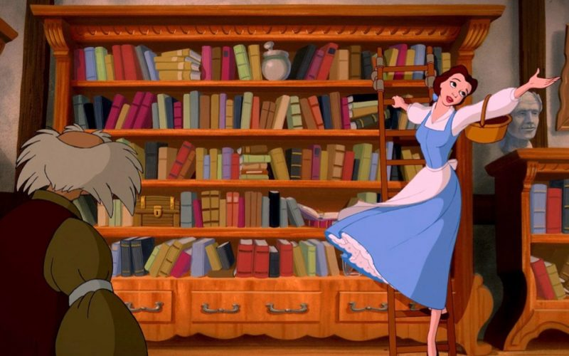 beauty and the beast, belle, bookshop, bookstore, midult drugs, drugs of choice