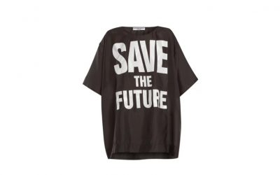 save the future, katharine hamnett, slogan t-shirt, t-shirt with a message, something to say, clothes, fashion, midult fashion, nothing to wear?