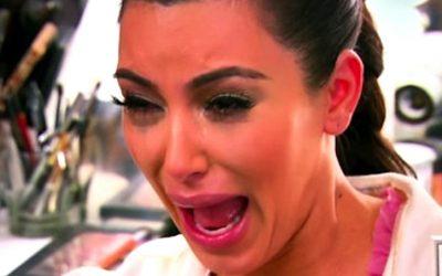 kim kardashian, keeping up with the kardashians, crying, mascara, can't handle, terror, horror