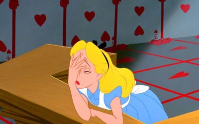 alice in wonderland, alice, face palm, time is funny, time, time shifting