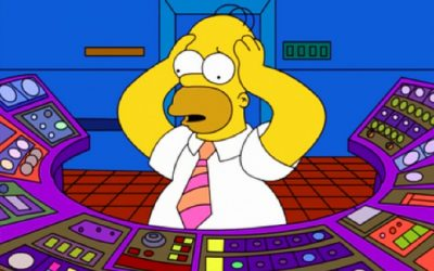 homer simpson, the simpsons, mental claustrophobia, decisions, panic