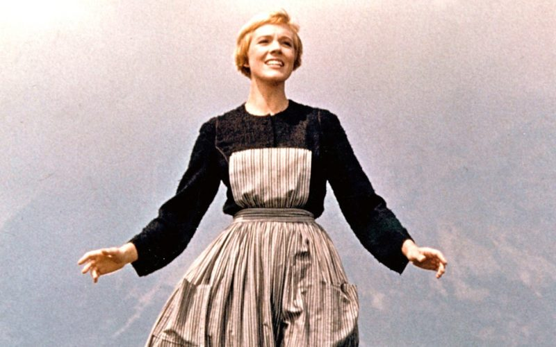 sound of music, happy, julia roberts, maria, singing, affirmations, mantras