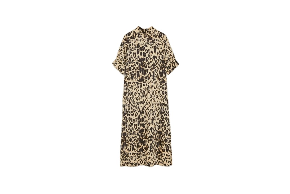 zara, not expensive, leopard print dress, animal print, dress, clothes, fashion, midult fashion, nothing to wear?