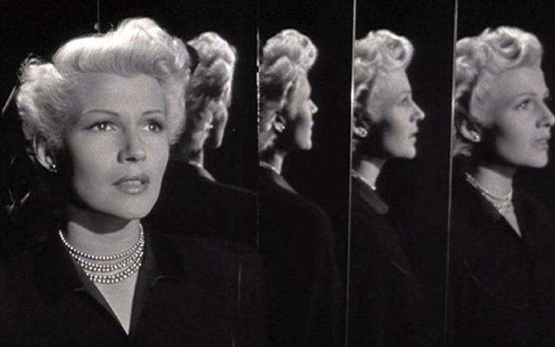lady from shanghai, rita hayworth, mirror management, mirror, body image, self image
