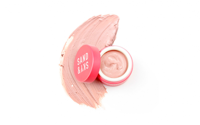 sand and sky, pink clay mask, face mask, beauty, face, skincare, midult beauty, beauty school dropout