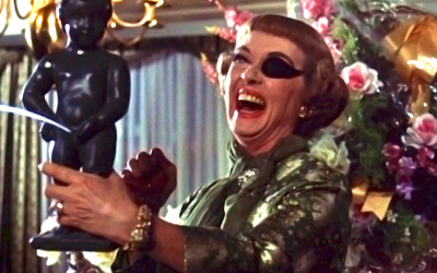 the anniversary, bette davis, eye patch, laughing, hysterical, murder, death, murder maths