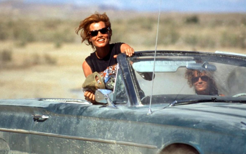 thelma and louise, car passenger seat, driving, conversations you have with yourself, monologue