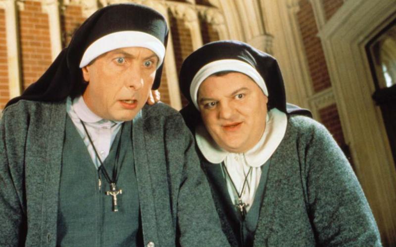 nuns on the run, robbie coltrane, eric idle, confession, confessional