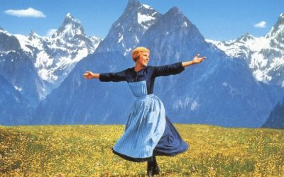 julie andrews, sound of music, hills, singing, happy, feeling well, feeling less weird