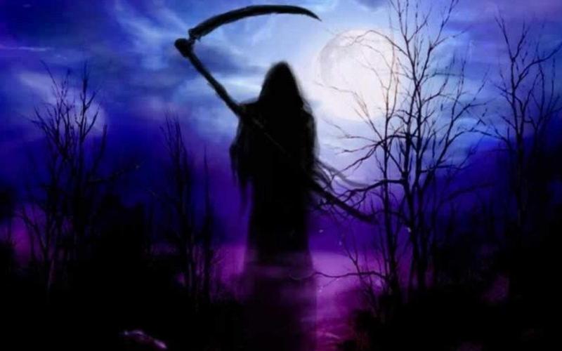 grim reaper, death, night, moon