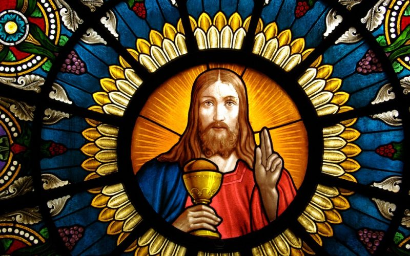 jesus, jesus christ, stained glass window, mosaic, window