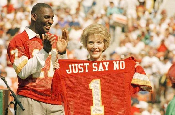 nancy reagan, first lady, ronald reagan, just say no, say no