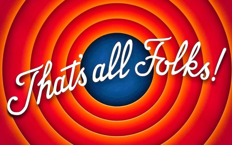 looney tunes, end credits, that's all folks, the end