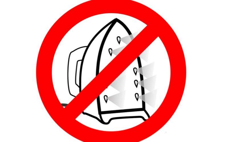 ironing, ban, no ironing, household chores, ban