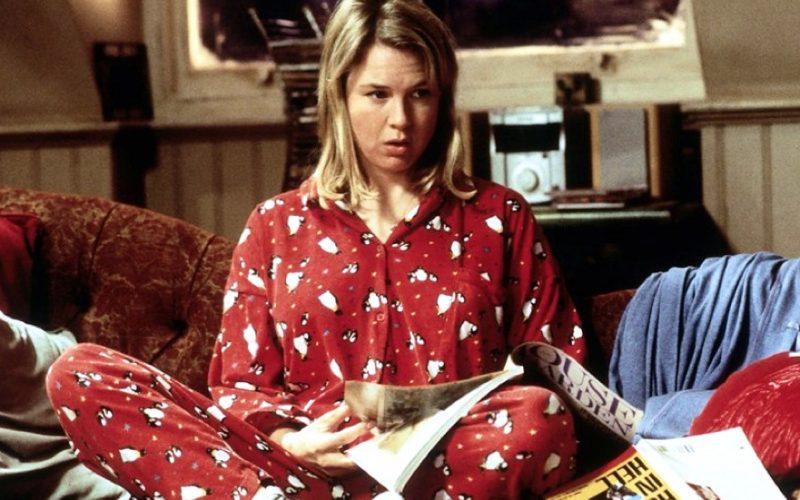 bridget jones diary, renee zellweger, pyjamas, animal print, nightwear, sleep, bedtime
