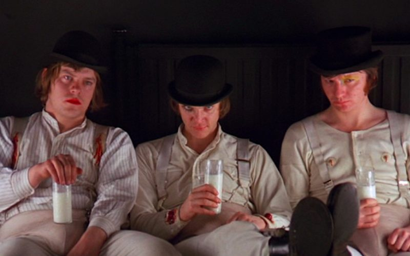 clockwork orange, drinking milk, what your drink says about you, milk bar