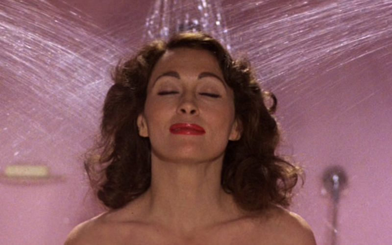 joan crawford, shower, thinking, weird thoughts