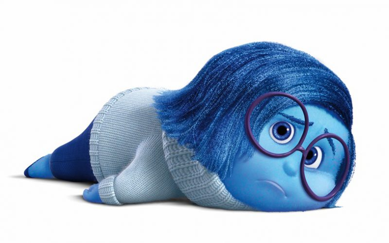 sadness, pixar, inside out, slumped, sad