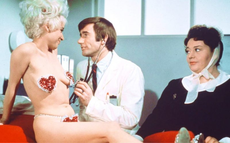 barbara windsor, carry on again doctor, doctor and patient, hospital, clever patient