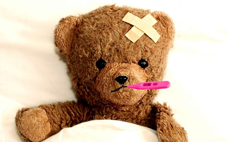 sick, ill, poorly, teddy bear, thermometer, unwell, afford to be ill