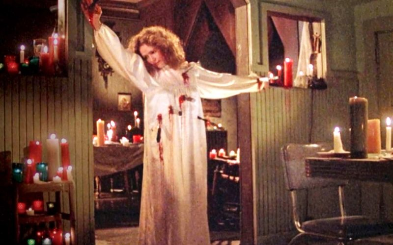 piper laurie, carrie, knives, stabbed, fresh hell, hell