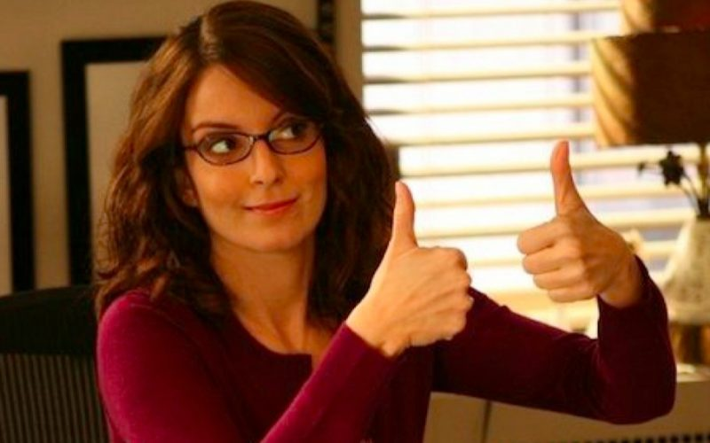 tina fey, thumbs up, micro-goals, success, feel good, proud, yay, accomplished