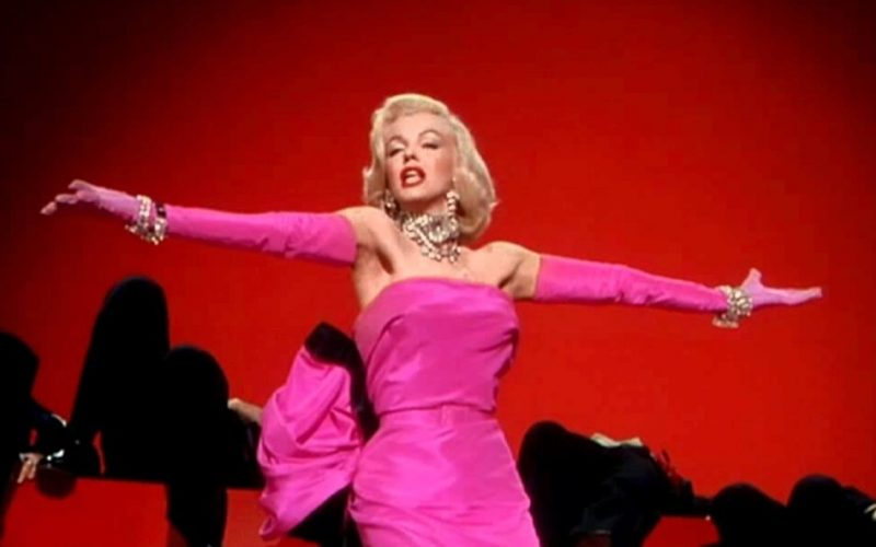 marilyn monroe, entrance, first impression, make impact, diamonds are a girl's best friend