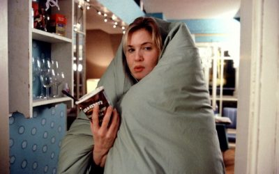 bridget jones diary, renee zellweger, duvet, relaxing, slacking off, slack off