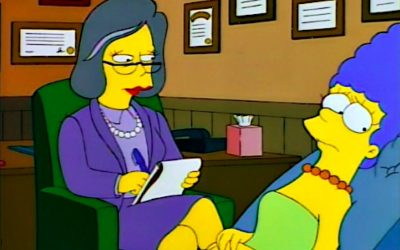 marge simpson, the simpsons, therapy, therapists, counselling