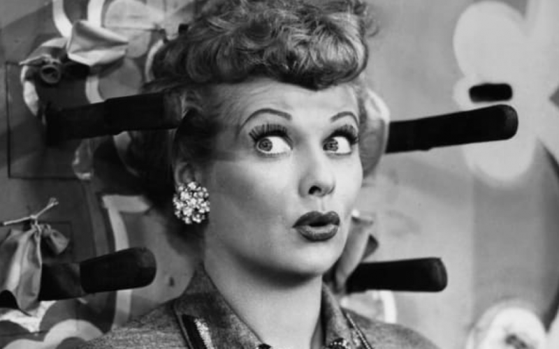 lucille ball, relief, regret, oops, yikes, wide eyed