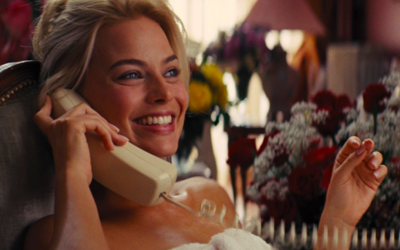 wolf of wall street, margot robbie, phone party, phone, friendship, party, fun, staying in