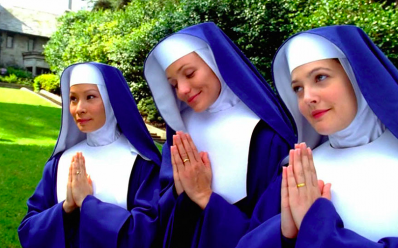 charlies angels, nun, undercover, celibate, kissing, new sex rules