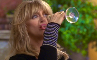 first wives club, goldie hawn, make worse, worsen, wine, drinking, salt on wound