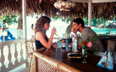 cocktail, elisabeth shue, tom cruise, flirting, flirtatious, good on location, holiday, away