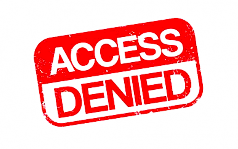 access denied, restricted access, no access