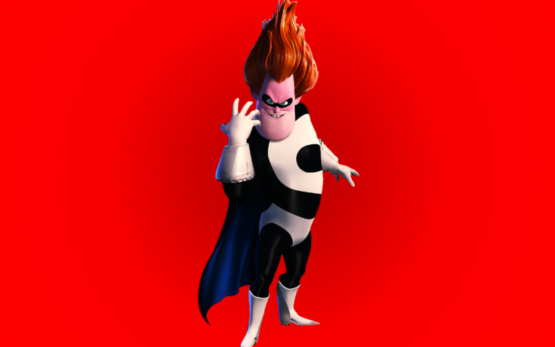 incredibles, villain, syndrome, power hungry, power