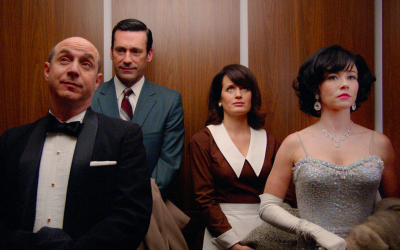 mad men, elevator, lift, awkward, monologue, conversations you have with yourself