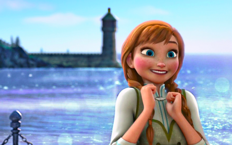 frozen, anna, excited, anticipation, can't wait for